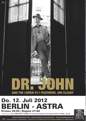 Blues-Legende DR. JOHN kommt nach Berlin
