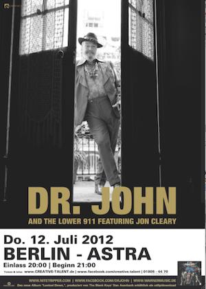 Blues-Legende DR. JOHN kommt nach Berlin